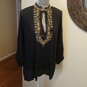 Ralph Lauren Black Gauze  Cotton Top💕